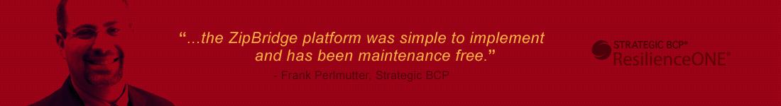 Frank Perlmutter - Strategic BCP